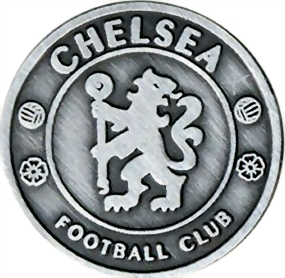 Fussball Pin Chelsea London Antique Silver