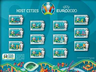 UEFA EURO 2020 Pin Kollektion Host Cities
