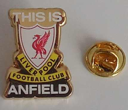 Liverpool FC Pin This is Anfield gold